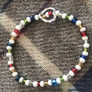 Jewelry - rainbow heart bracelet